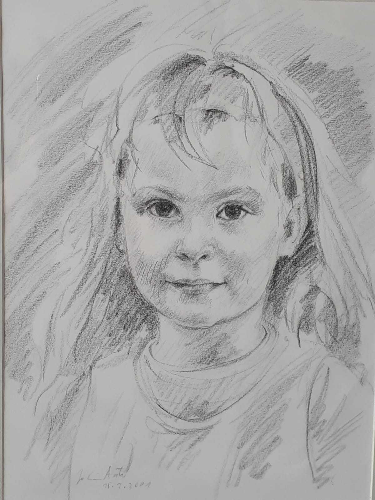 Enkelin, Bleistiftzeichnung, 15.02.2001