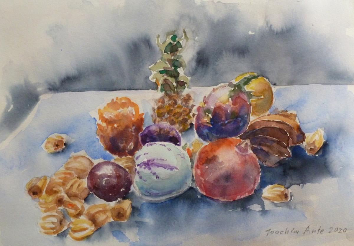 Exotische Früchte, Aquarell, 4.2020
