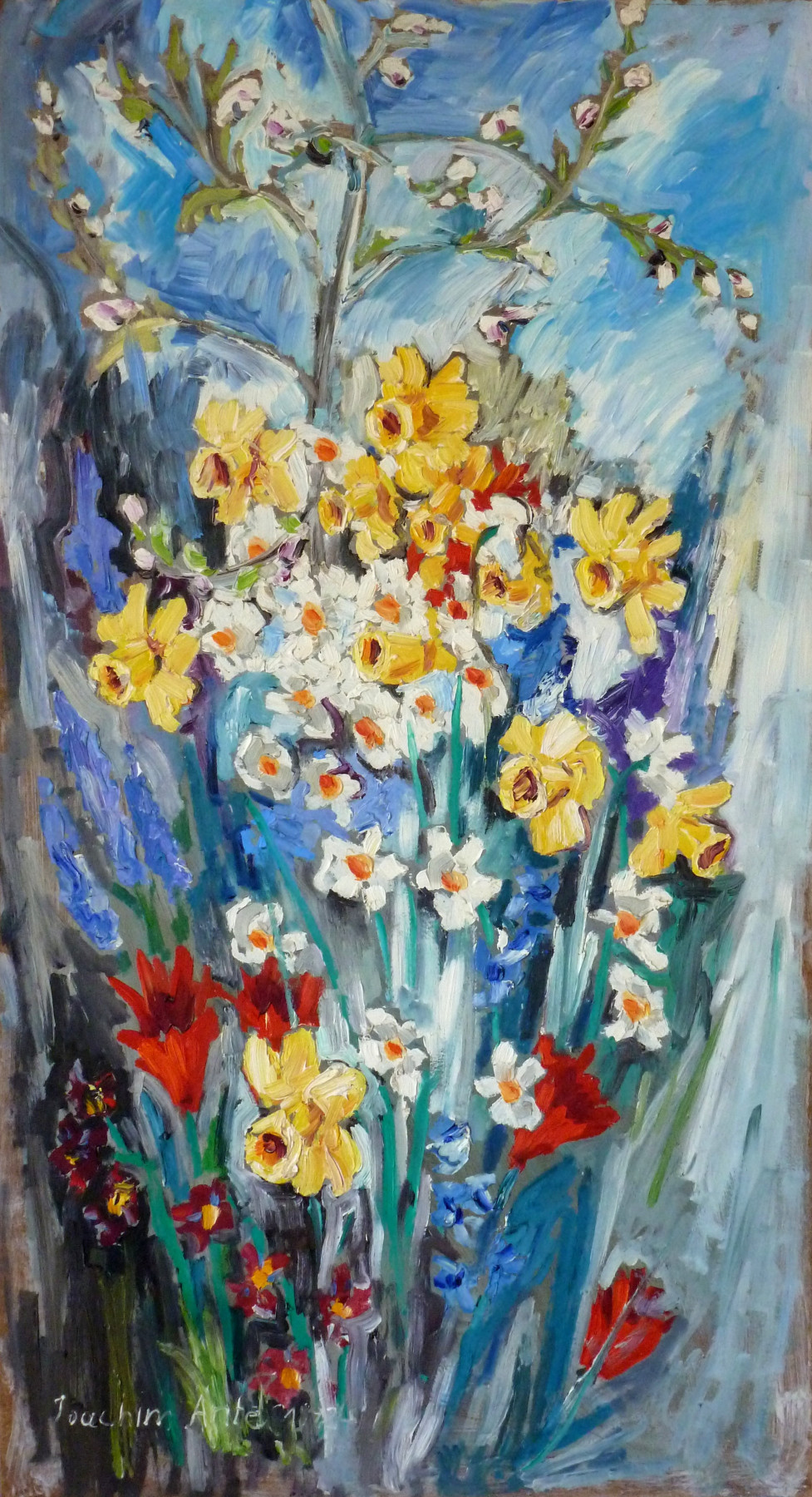 Glockenblumen, Öl, 1992