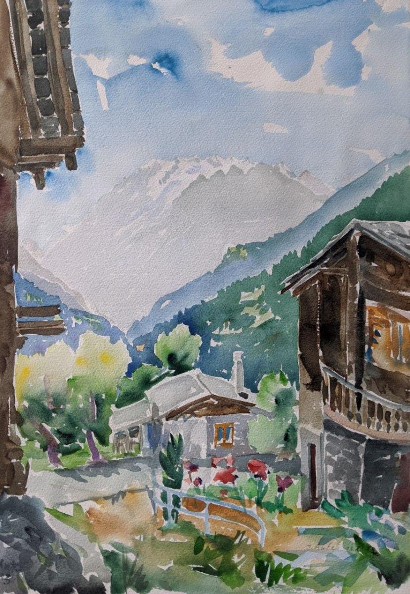 Blick auf den Dom, Schweiz, 13.08.1983