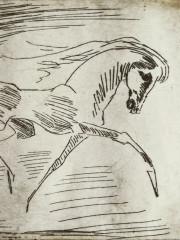 Pferd im Lauf, Radierung, 1982