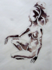 Sitzende Frau, Akt, 2005