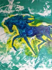 Blaues Pferd im Lauf, Datum unbekannt